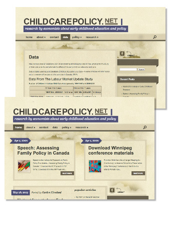 A sample of the Childcarepolicy.net Web site