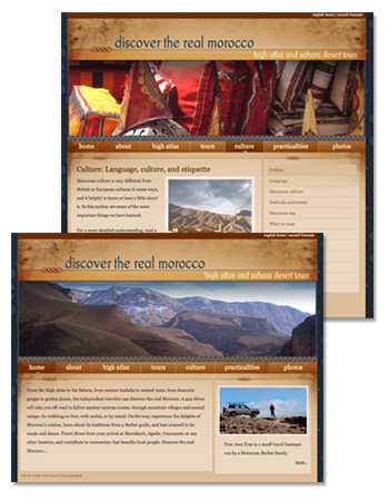 A sample of the Discover the Real Morocco site